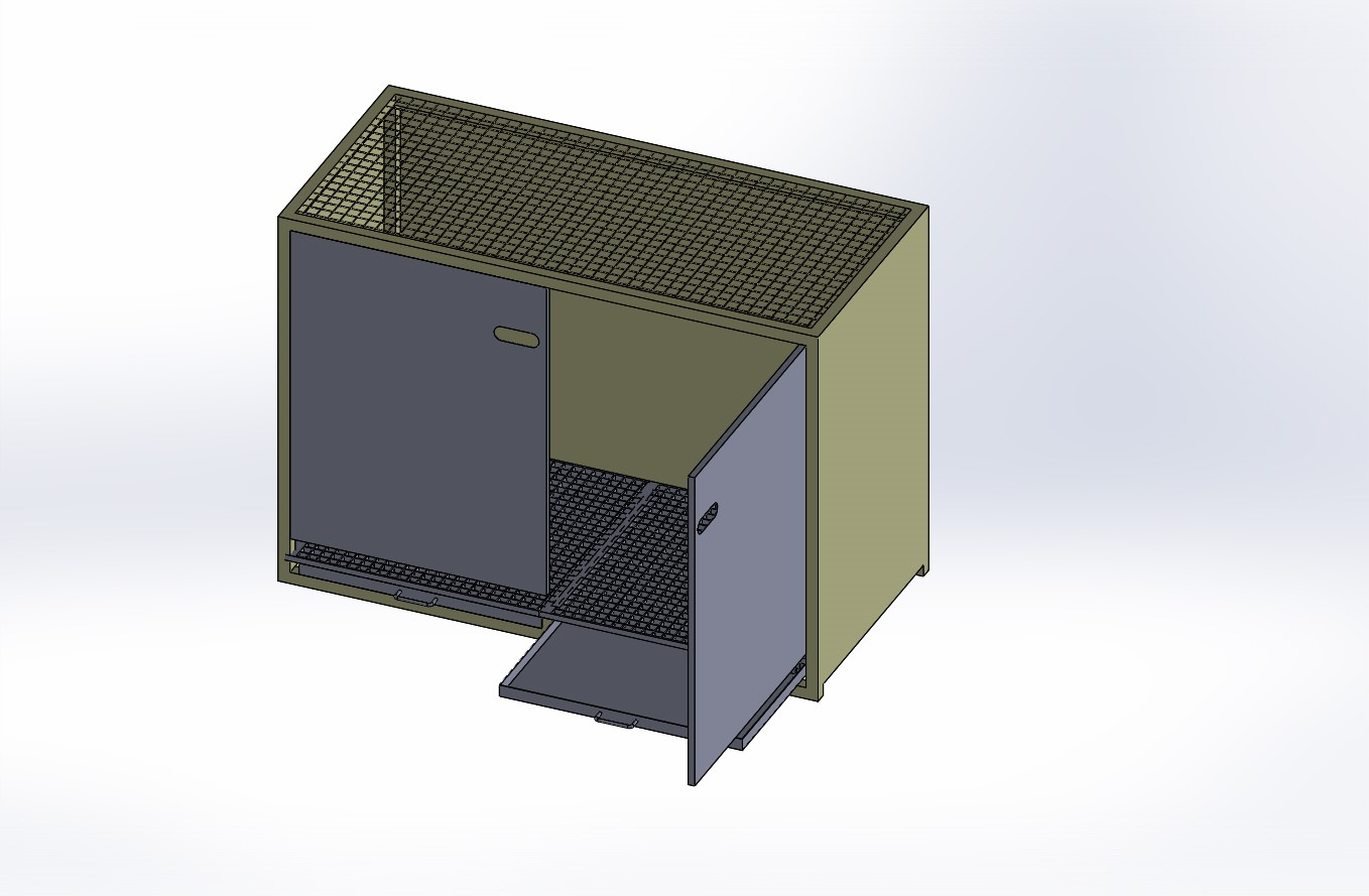 Mixing cabinet